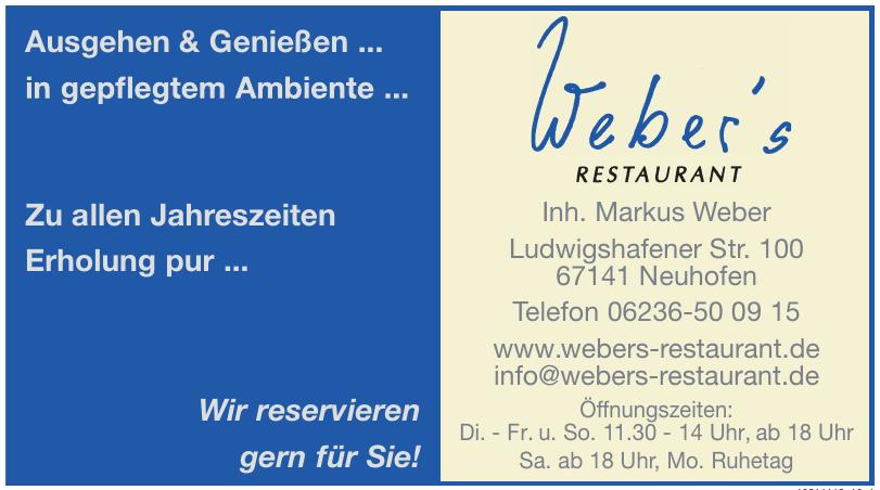 Weber´s Restaurant