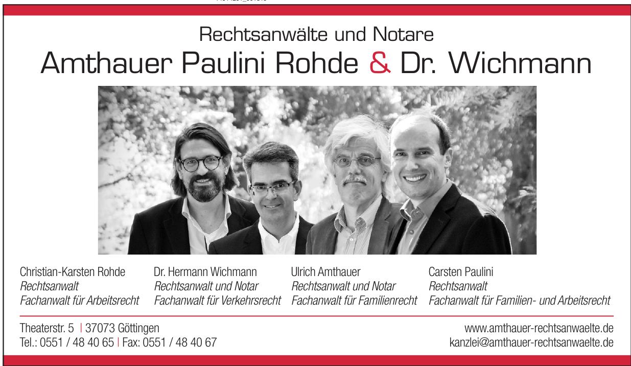 Rechtsanwälte und Notare Amthauer Paulini Rohde & Dr. Wichmann