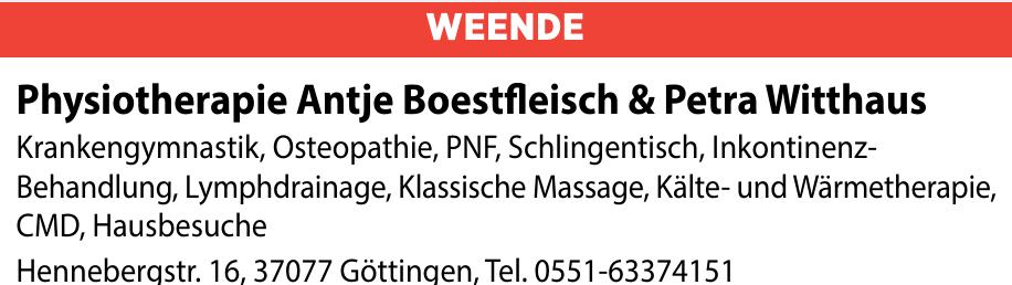 Physiotherapie Antje Boestfleisch und Petra Witthaus