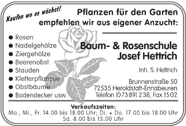 Baum-& Rosenschule Josef Hettrich