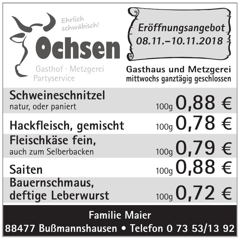 Gasthaus und Metzgerei Ochsen