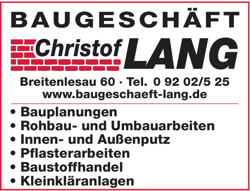 Baugeschäft Christof Lang