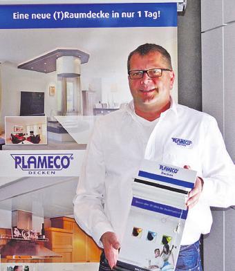 Ralf Zerrath informiert über Plameco-Decken Foto: pr