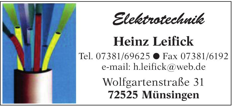 Heinz Leifick