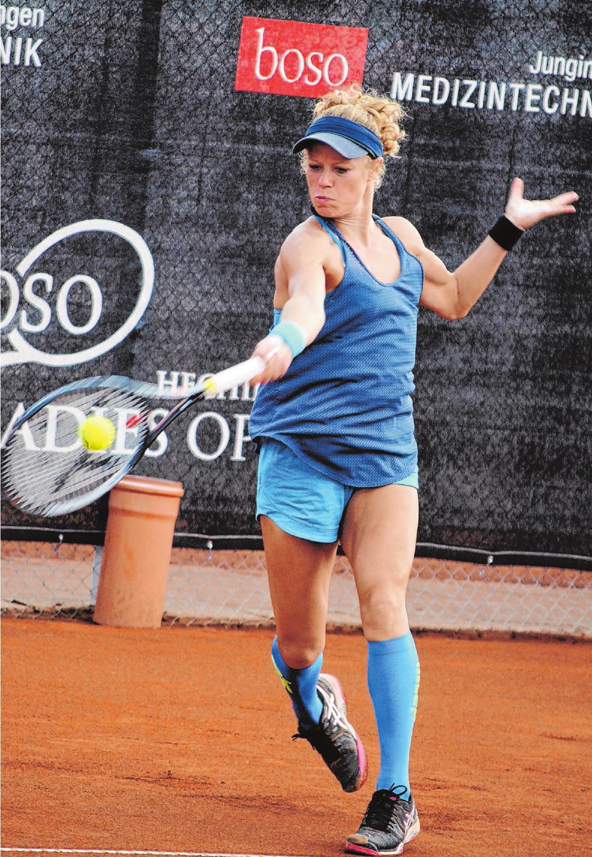 Die Vorjahreszweite, Laura Siegemund aus Metzingen, führt dieses Jahr die Setzliste der boso Ladies Open in Hechingen an. Foto: Hardy Kromer