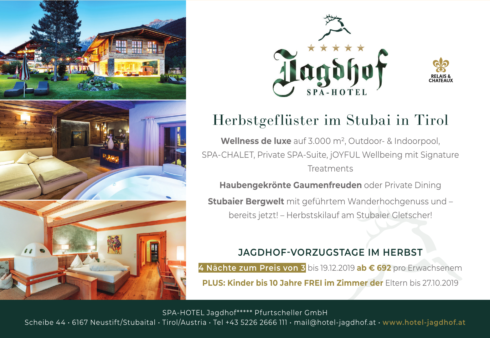 Spa-Hotel Jagdhof - Pfurtscheller GmbH