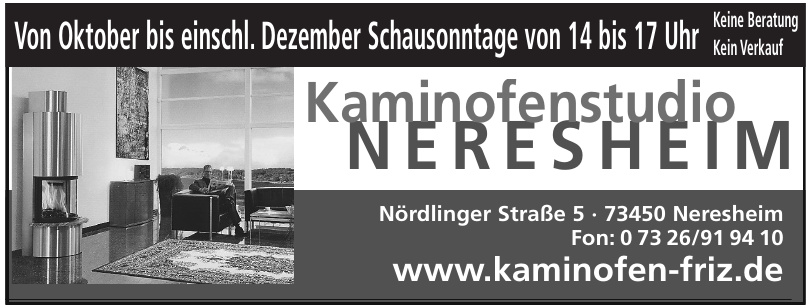 Kaminofenstudio Neresheim