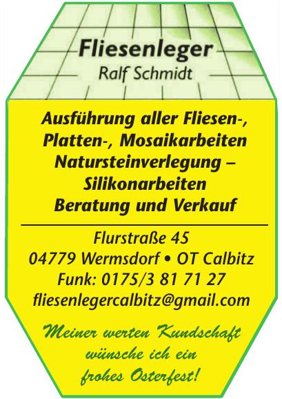 Fliesenleger Ralf Schmidt