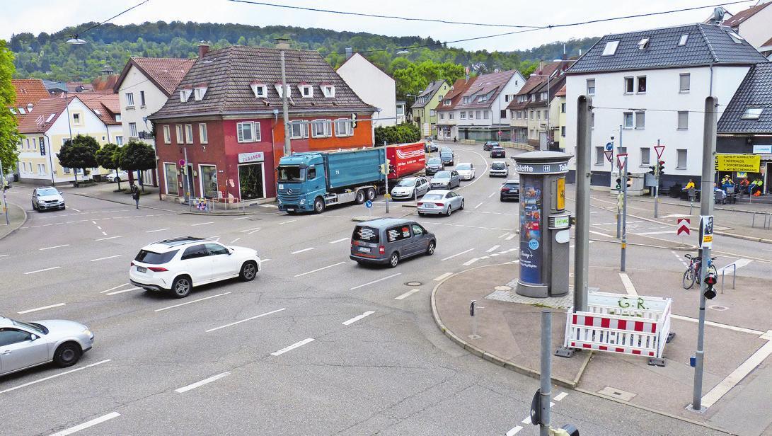 Der Bau eines Kreisverkehrs am Hedelfinger Platz war die Voraussetzung für die Zustimmung des Bezirksbeirats zur neuen Hauptradroute 2. Er könnte ab 2023/2024 entstehen.