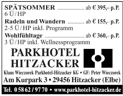 Klaus Wieczorek Parkhotel-Hitzacker KG
