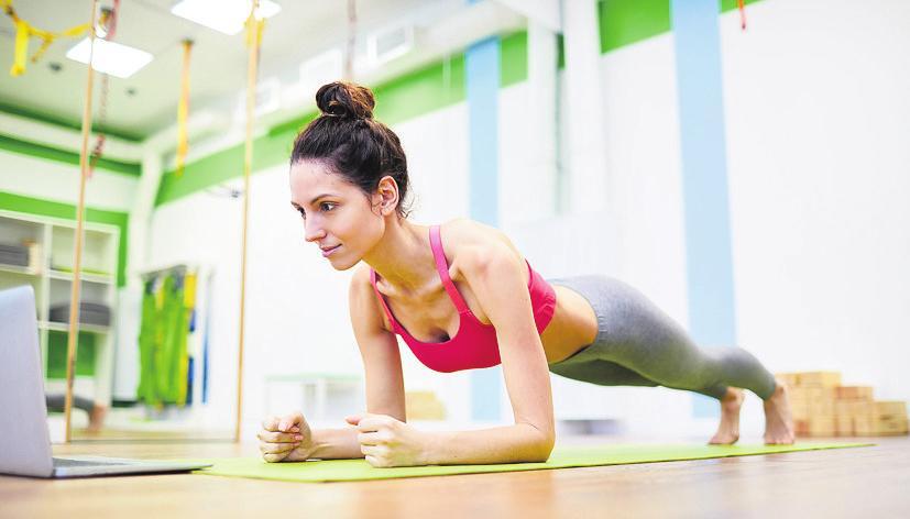 Die Planke – auch Unterarmstütz – ist zurzeit besonders angesagt. Die Übung kräftigt die Rumpfmuskulatur besonders effektiv. FOTO:FOTOLIA
