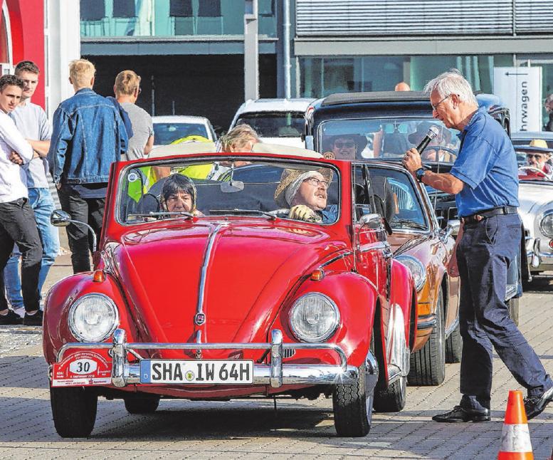 Bei Auto Koch in Hessental starteten 2018 über 120 Oldtimer. Dieses Mal beginnt die Tour bei Optima Pharma im Hessentaler Solpark.