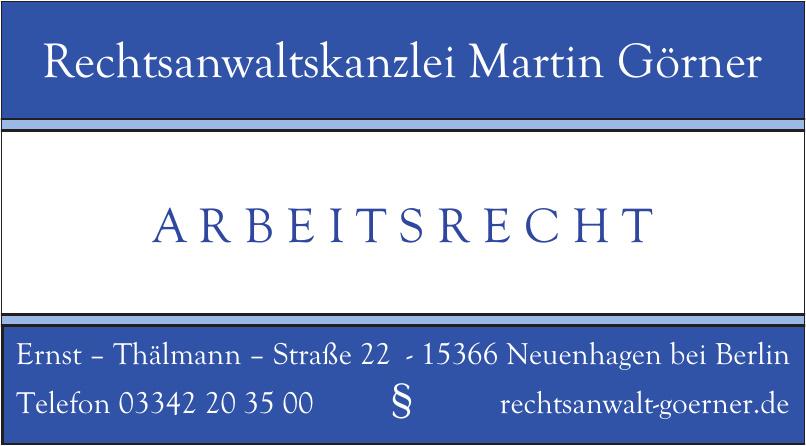 Rechtsanwaltskanzlei Martin Görner