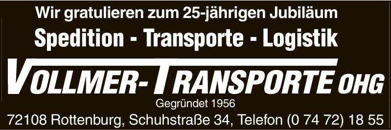 Vollmer-Transporte OHG