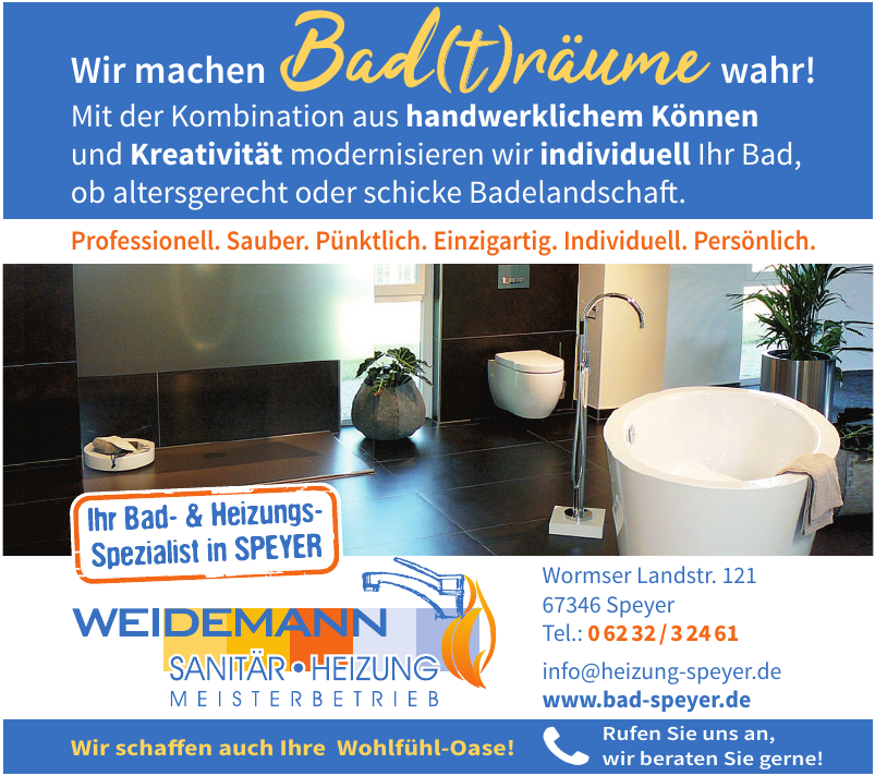 Weidemann Sanitär - Heizung Meisterbetrieb