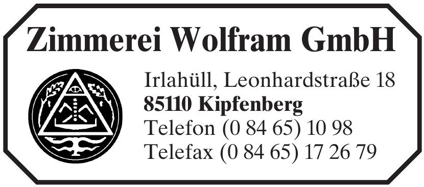Zimmerei Wolfram GmbH