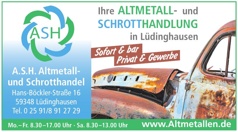 Altmetall- und Schrotthandlung in Lüdinghausen