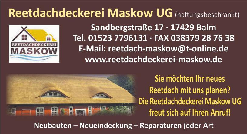 Reetdachdeckerei Maskow UG