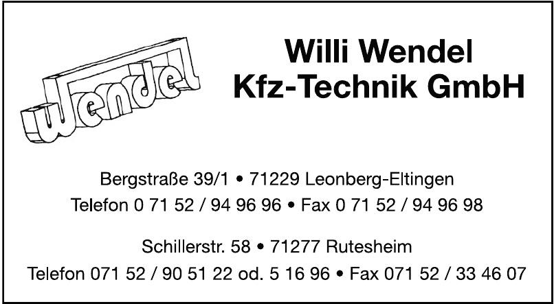 Willi Wendel Kfz-Technik GmbH