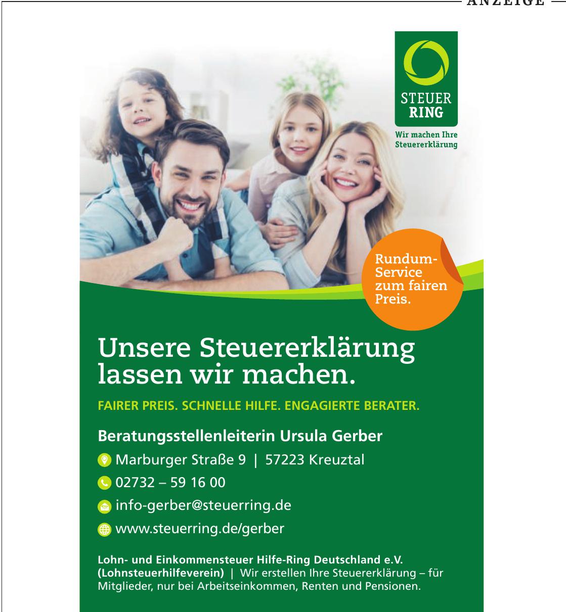 Lohn- und Einkommensteuer Hilfe-Ring Deutschland e.V. (Lohnsteuerhilfeverein), Beratungsstellenleiterin Ursula Gerber