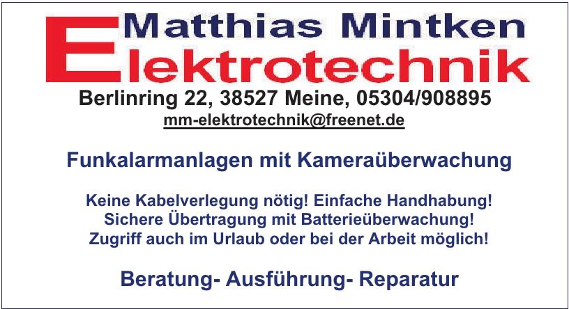 Elekrtrotechnik Matthias Mintken