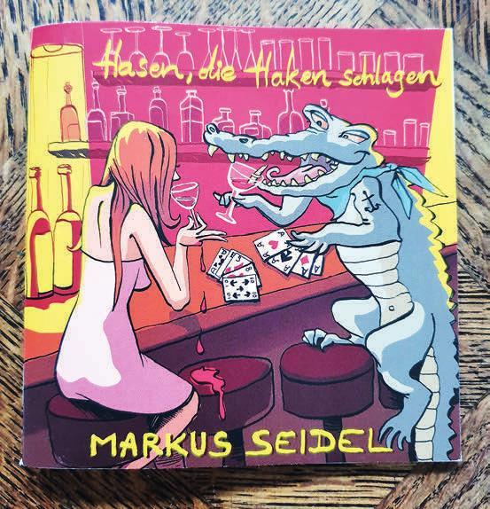 """""""Hasen, die Haken schlagen"""" heißt der Literatur-Quickie im Pixi-Buch-Format: Autor Markus Seidel bei einer Lesung ¨Foto: Kerstin Killmer"""