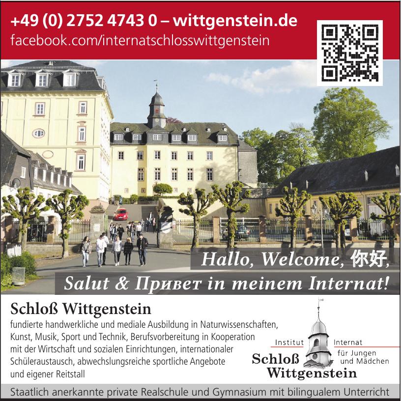Schloß Wittgenstein - Institut und Internat für Jungen und Mädchen
