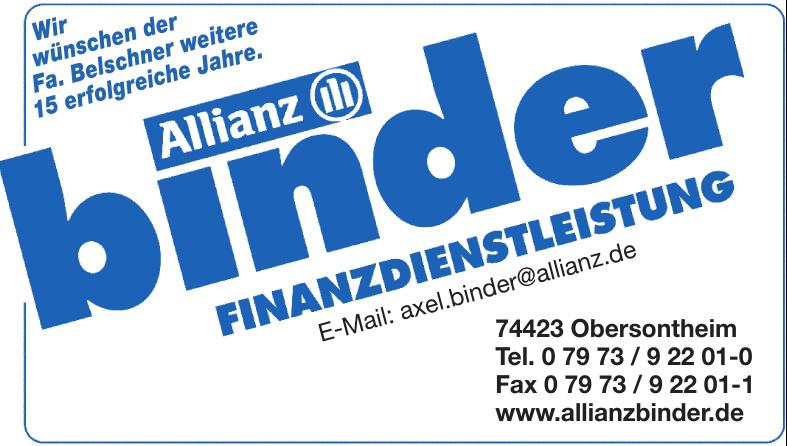 Allianz binder