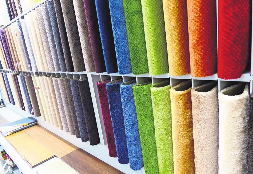 Die Ausstellung bietet eine große Farbauswahl.