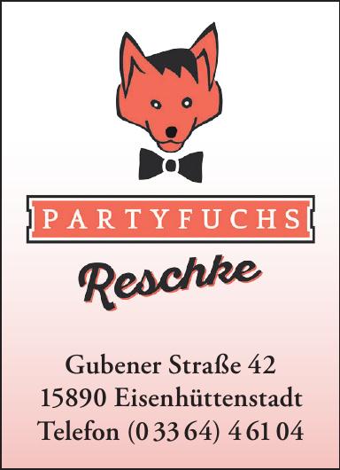 Partyfuchs Stefan Reschke