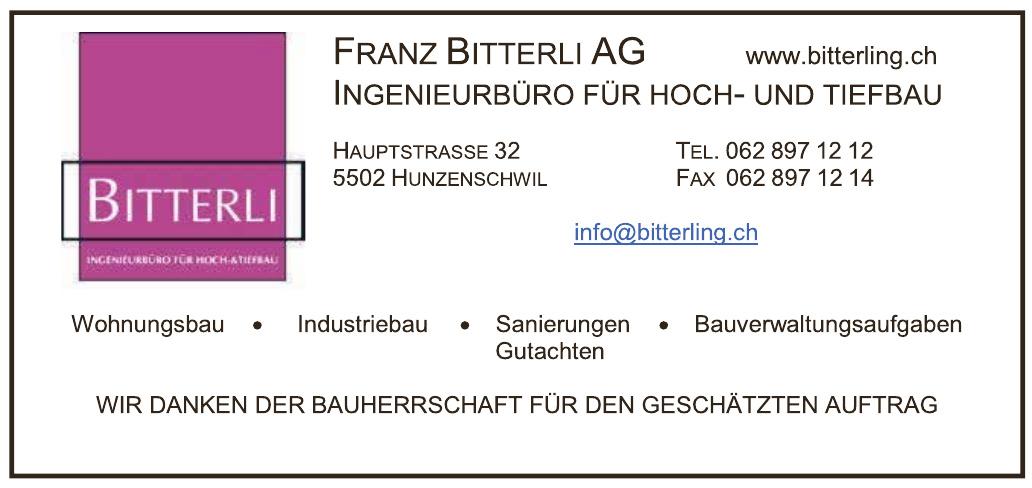 Franz Bitterli AG Ingenieurbüro für Hoch- und Tiefbau