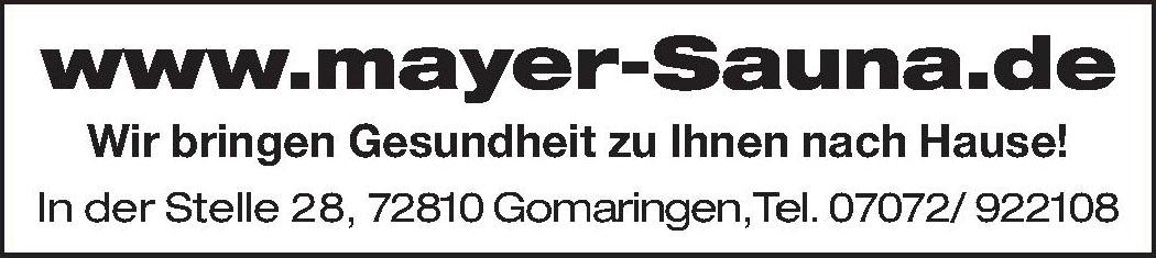 Sauna und Wohnmöbel, Uwe Mayer