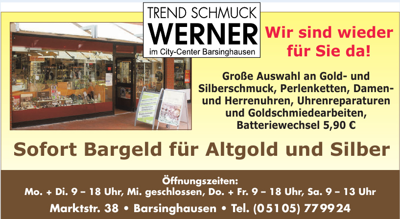 Trend Schmuck Werner