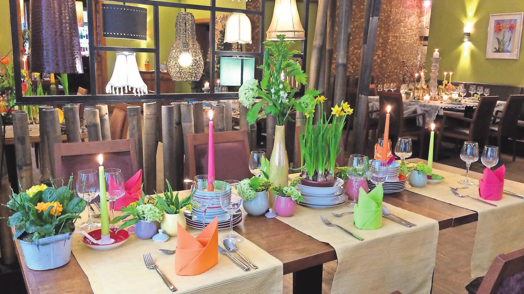 Gäste können sich auf ein umfangreiches Osterbüfett im Akazienhof freuen.