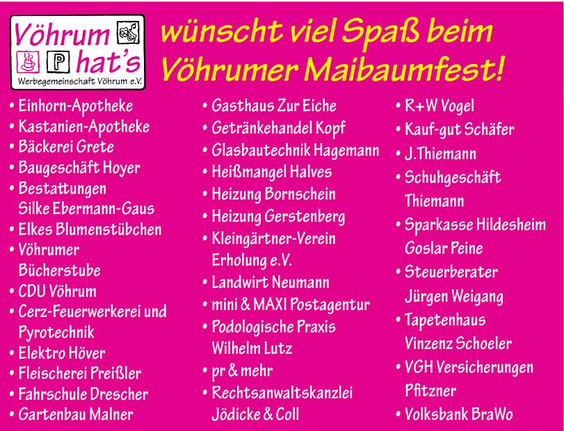Werbegemeinschaft Vöhrum e.V.
