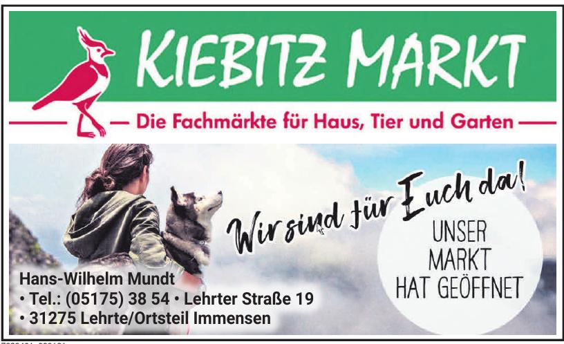 Kiebitz Markt Hans-Wilhelm Mundt