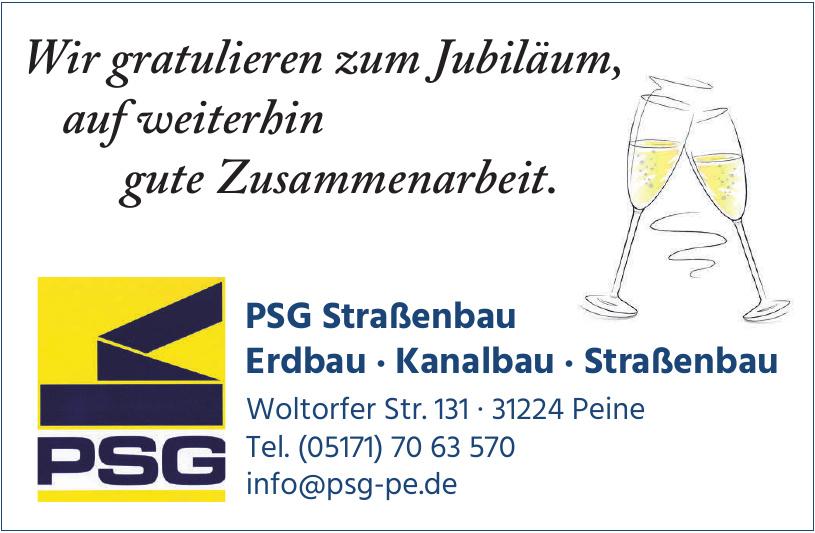 PSG Straßenbau Erdbau · Kanalbau · Straßenbau