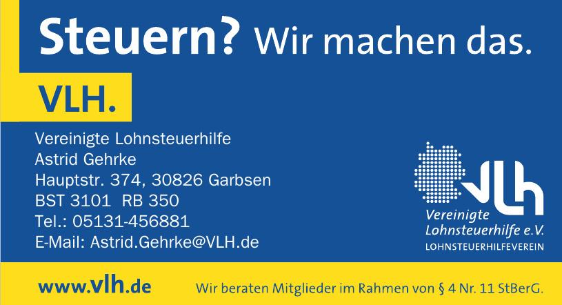 Vereinigte Lohnsteuerhilfe Astrid Gehrke