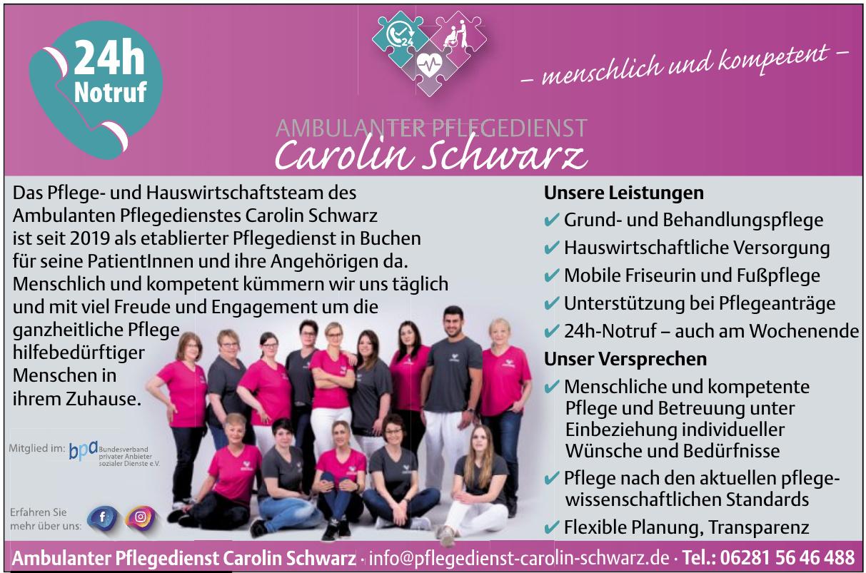 Ambulanter Pflegedienstlegedienst Carolin Schwarz