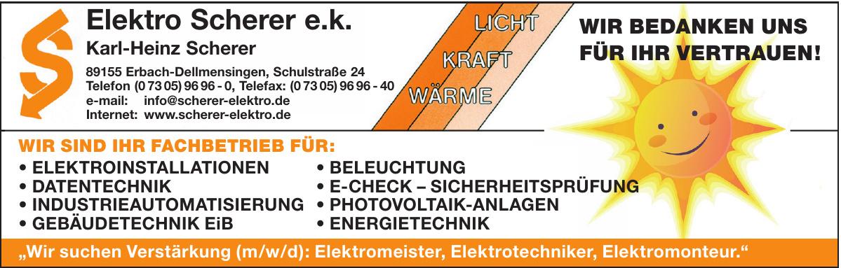 Elektro Scherer e.k.