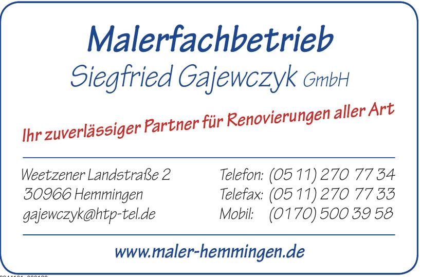 Malerfachbetrieb Siegfried Gajewczyk GmbH