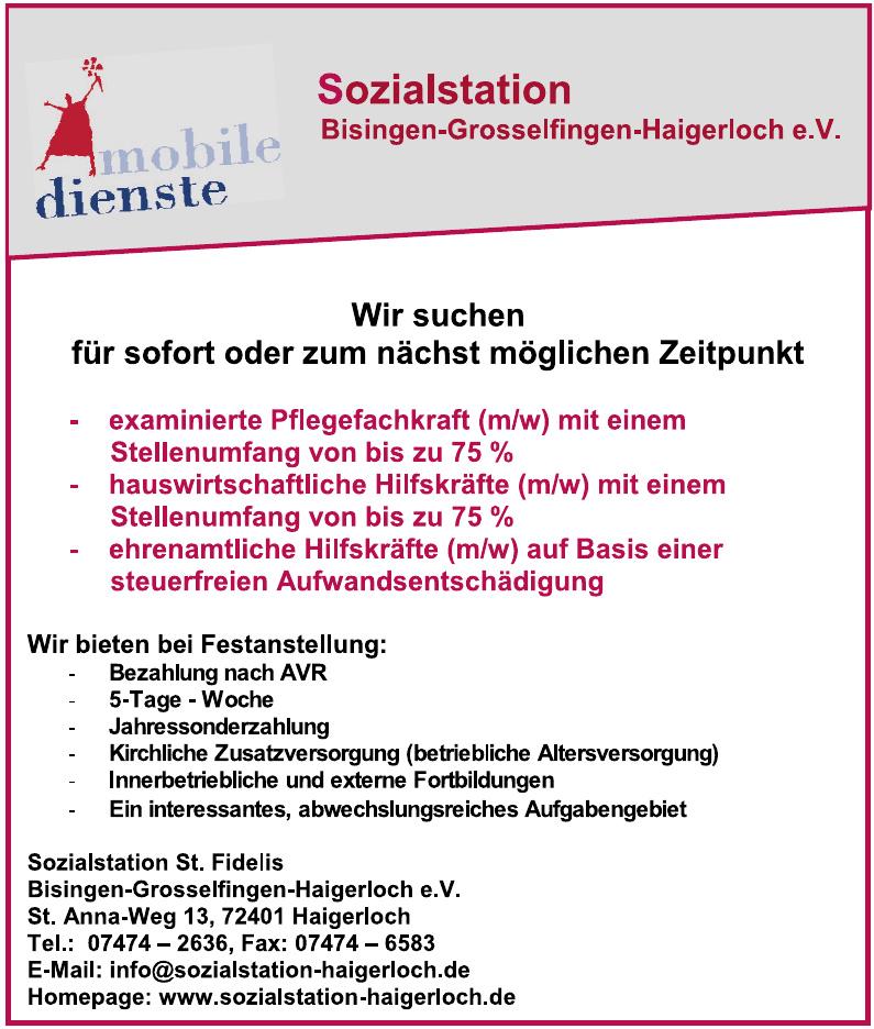 Sozialstation St.Fidelis Bisingen-Grosselfingen-Haigerloch e. V