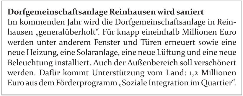 Dorfgemeinschaftsanlage Reinhausen
