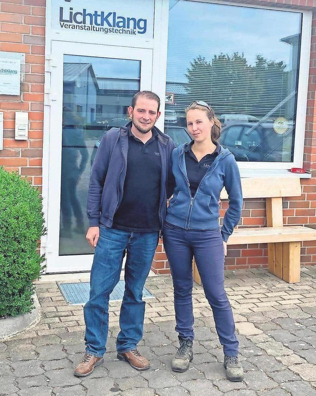 Um die Vertonung des HGS-Treffens kümmerten sich Colin Alders und Sabrina Roth von der Firma Lichtklang.