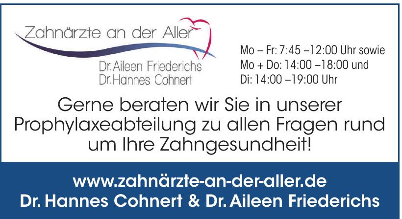 Zahnärzte an der Aller - Dr. Aileen Friederichs, Dr. Hannes Cohnert