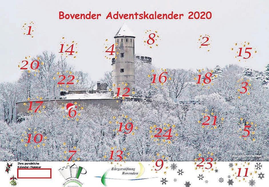 Ein schöner Wandschmuck – der Bovender Adventskalender ist ab sofort in seiner sechsten Auflage erhältlich.