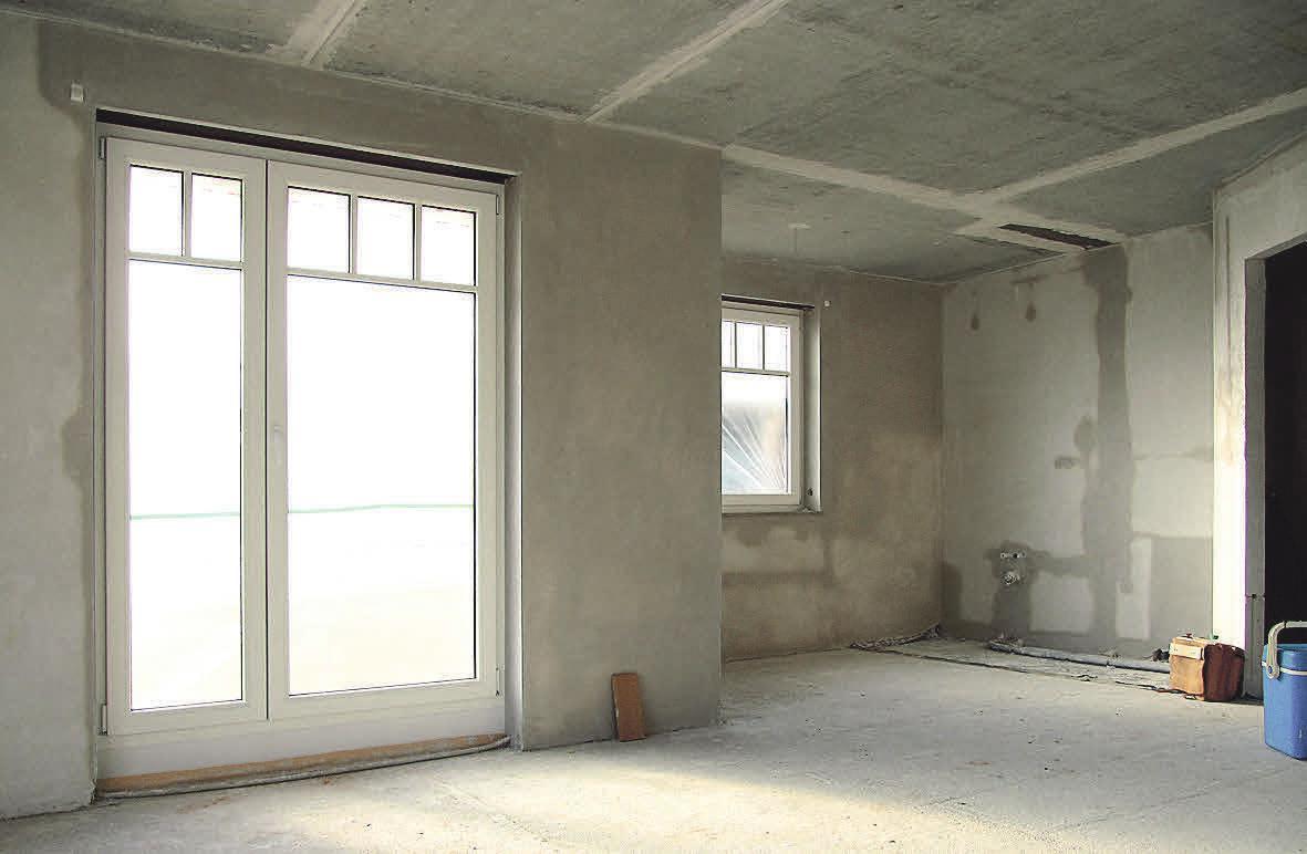 Sind die Wände erst einmal verputzt, können sie beliebig gestaltet werden.