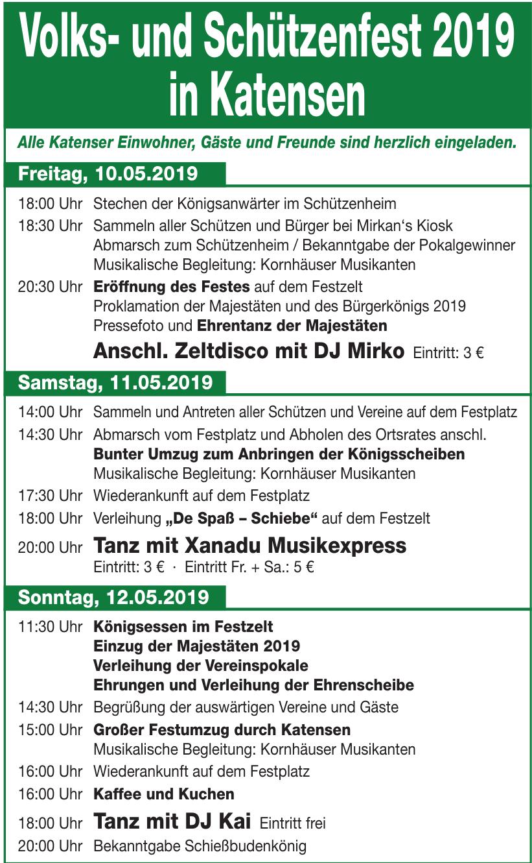Volks- und Schützenfest 2019 in Katensen