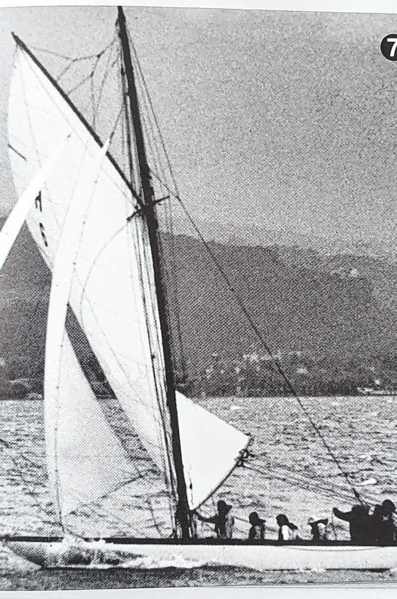 """Die """"Bayern II"""" im Zieleinlauf bei bis zu acht Beaufort. 1971."""
