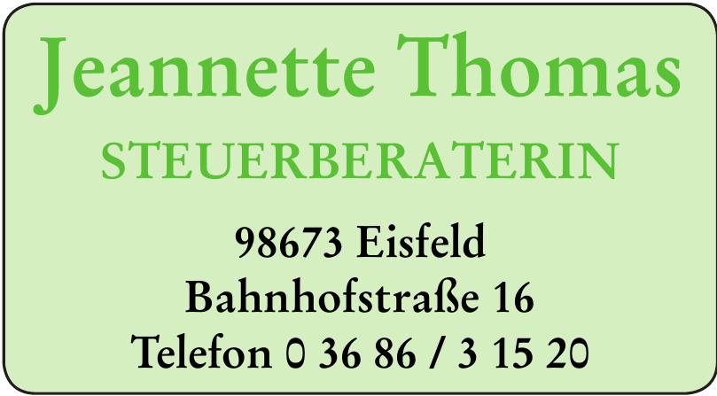 Jeannette Thomas Steuerberaterin